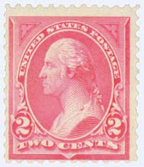 1894 2c Washington unwmrk carmine T1