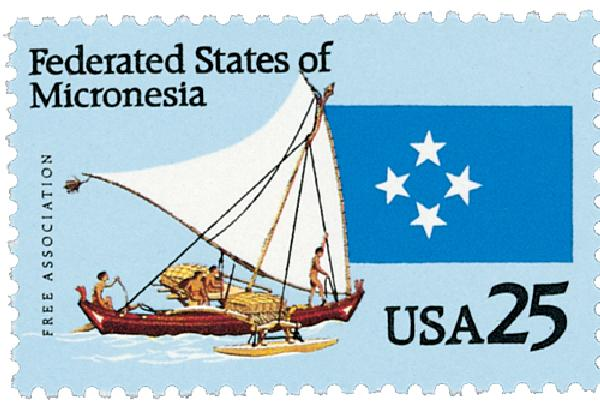 1990 25c Micronesia