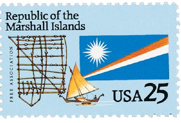 1990 25c Marshall Islands
