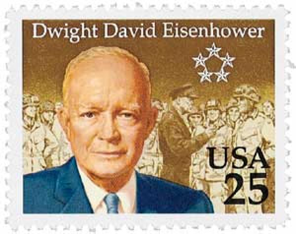 1990 25c Dwight David Eisenhower