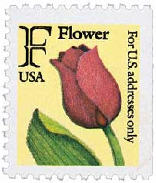 1991 29c F-rate Flower, BEP booklet single