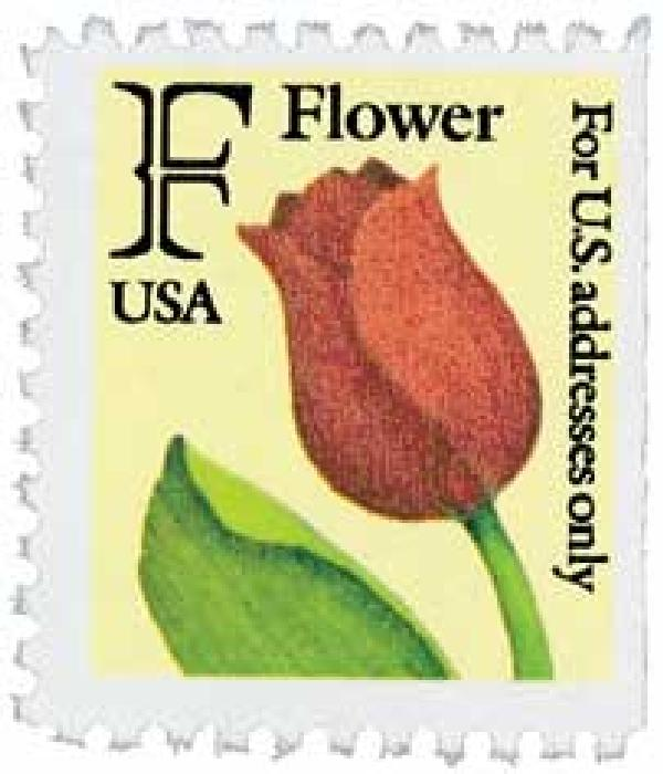 1991 29c F-rate Flower, KCS booklet single