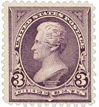 1894 3c Jackson, purple, unwatermarked
