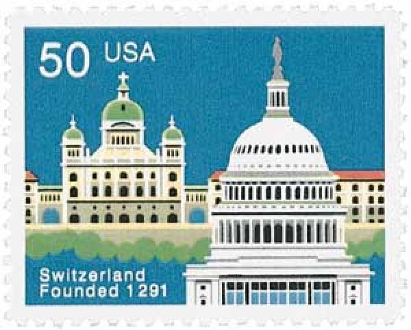 1991 50c Switzerland