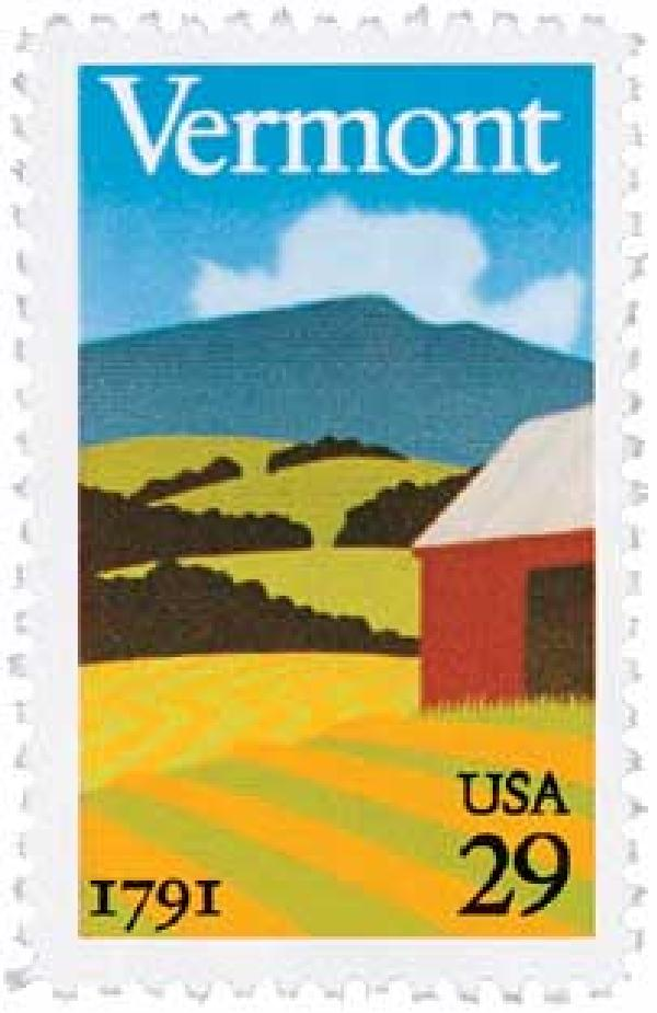 1991 29c Vermont Statehood
