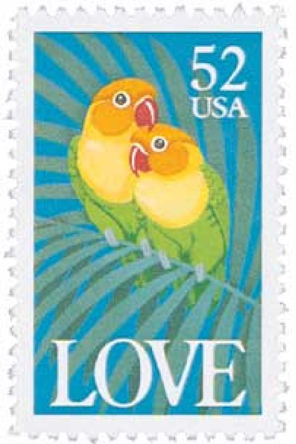 1991 52c Love Series: Love Birds