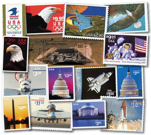 1991-2002 High Value, collection of 15 stamps
