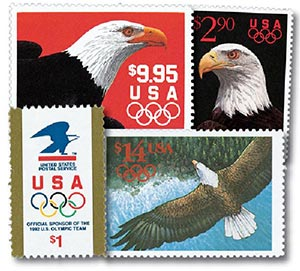 1991 Olympic High-Value Stamps, set 4 for sale at Mystic