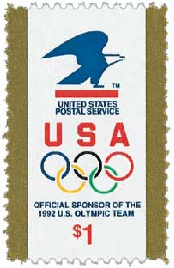 1991 $1 USPS and Olympic Rings