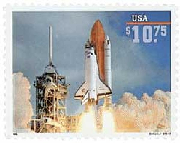 1995 $10.75 Endeavors Liftoff, Express Mail