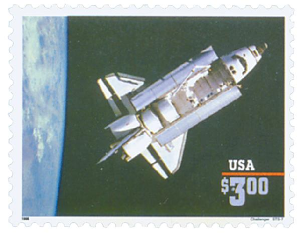 1996 $3 Space Shuttle Challenger, Priority Mail