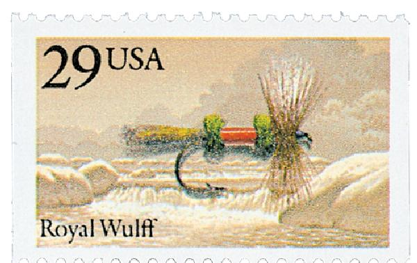 1991 Fishing Flies stamp