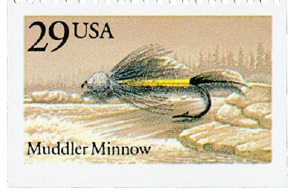 1991 29c Fishing Flies: Muddler Minnow