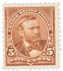 1894 5c Grant, unwatermarked