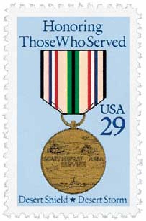 1991 29c Desert Shield and Desert Storm Medal