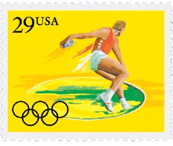1991 29c Summer Olympics: Discus