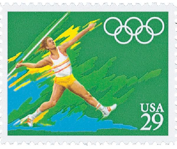 1991 29c Summer Olympics: Javelin