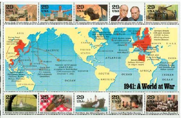 1991 29c World War II