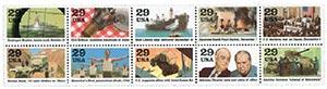 1991 29c World War II, 10 stamps