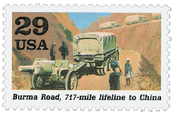 1991 29c Burma Road,single