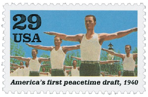 1991 29c World War II: Americas First Peacetime Draft