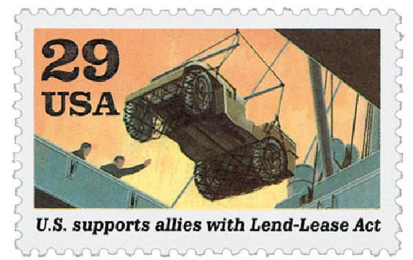 1991 29c Lend-Lease Act,single