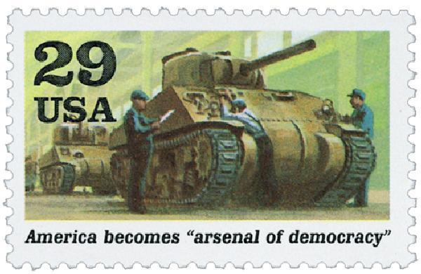 1991 29c Arsenal of Democracy,single