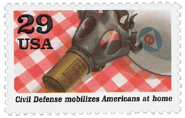1991 29c World War II: Civil Defense Mobilizes Americans at Home