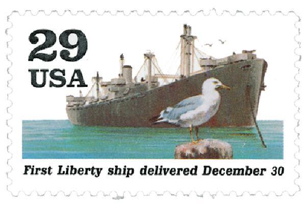 1991 29c First Liberty Ship,single