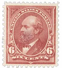 1894 6c Garfield, unwatermarked