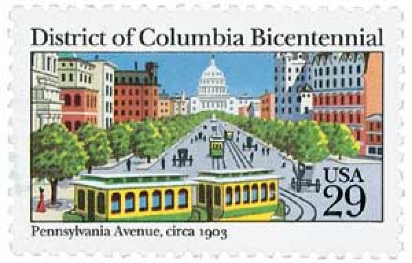 1991 29c District of Columbia Bicentennial