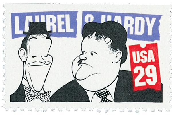 1991 29c Laurel and Hardy