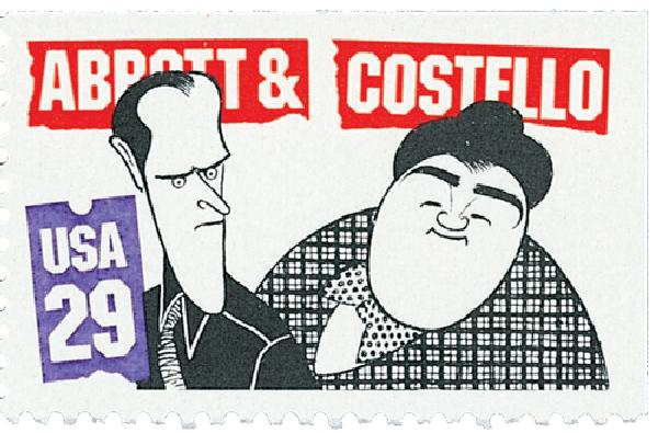 1991 29c Abbott and Costello