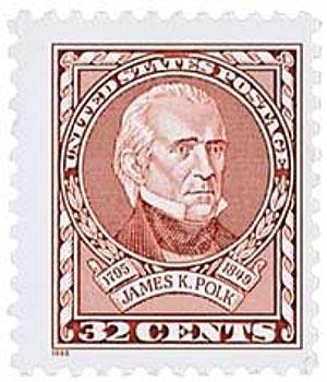1995 32c James Polk