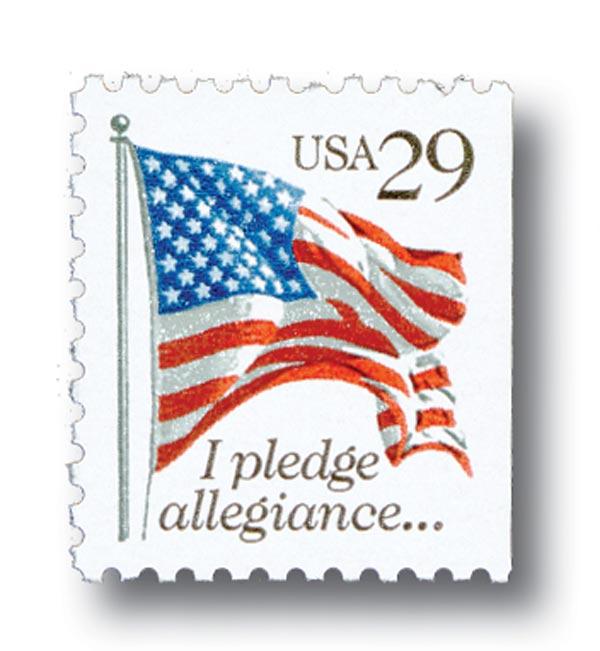 1992 29c Pledge of Allegiance, perf 11 x 10