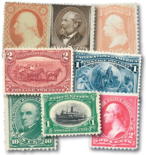 1857-1901 Classic Stamps, 8v