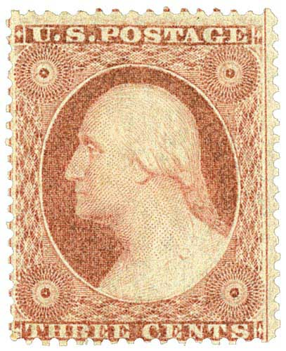 1857-61 3c Washington, Type III