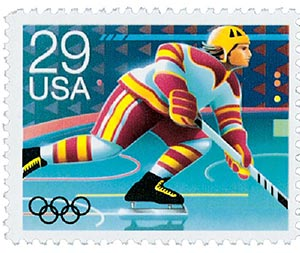 1992 29c Winter Olympics: Hockey