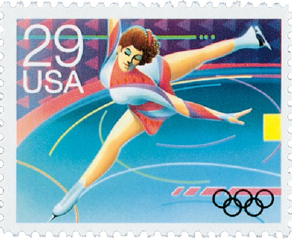 1992 29c Winter Olympics: Figure Skating