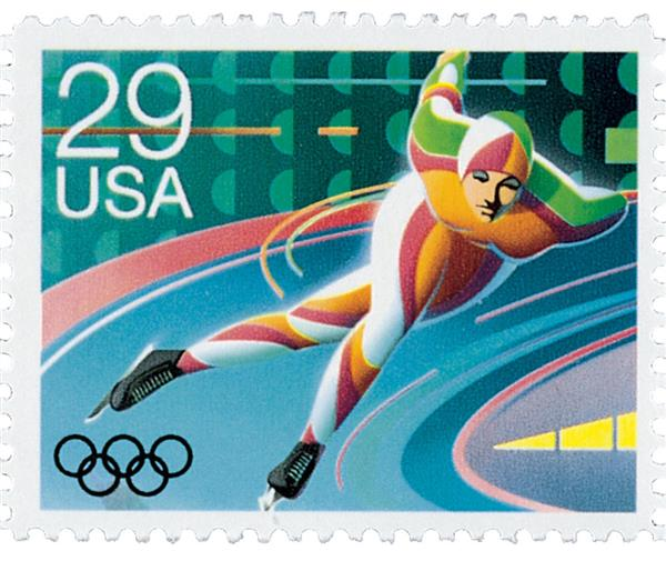 1992 29c Winter Olympics: Speed Skating