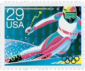 1992 29c Winter Olympics: Skiing