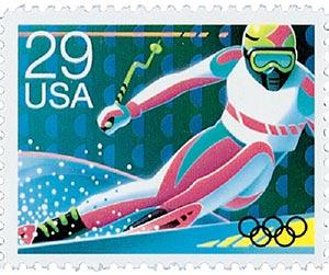 1992 29c Skiing