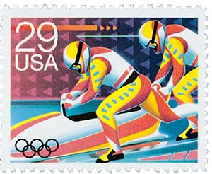1992 29c Winter Olympics: Bobsledding