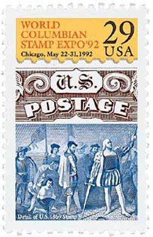 U.S. #2616 was issued for the 1992 World Columbian Stamp Expo.