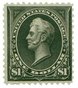 1894 $1 Perry, unwatermarked, type II