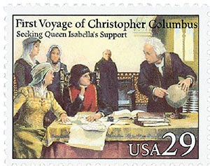 1992 29c Voyages of Columbus: Seeking Queen Isabellas Support