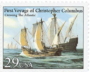 1992 29c Voyages of Columbus: Crossing the Atlantic