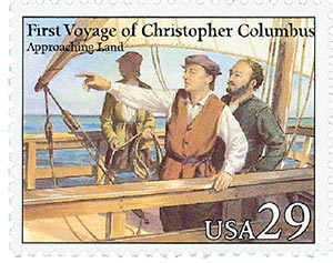 1992 29c Voyages of Columbus: Approaching Land