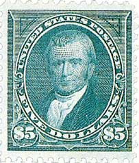1894 $5 Marshall, unwatermarked