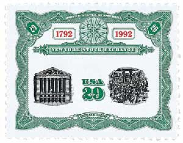 1992 29c NY Stock Exchange